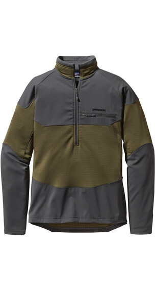 Patagonia M's R1 Field 1/4 Zip L/S Shirt Fatigue Green